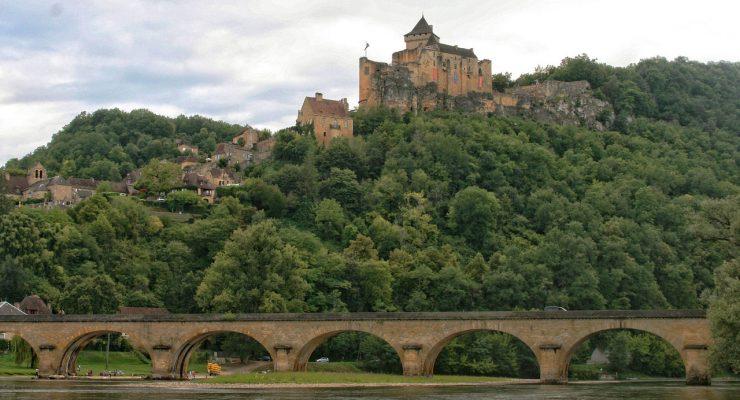 Castillo de Castelnaud, en la Dordoña, Francia