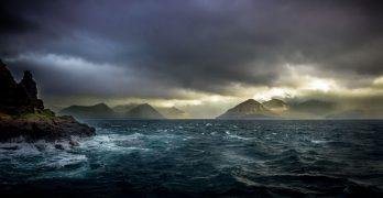 Tormenta en las Islas Feroe, Atlántico Norte