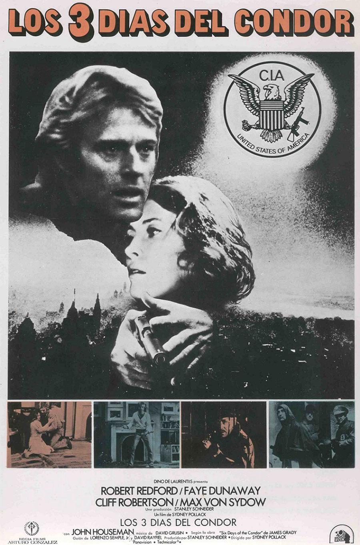 Cartel de la película Los tres días del cóndor, de Sydney Pollack