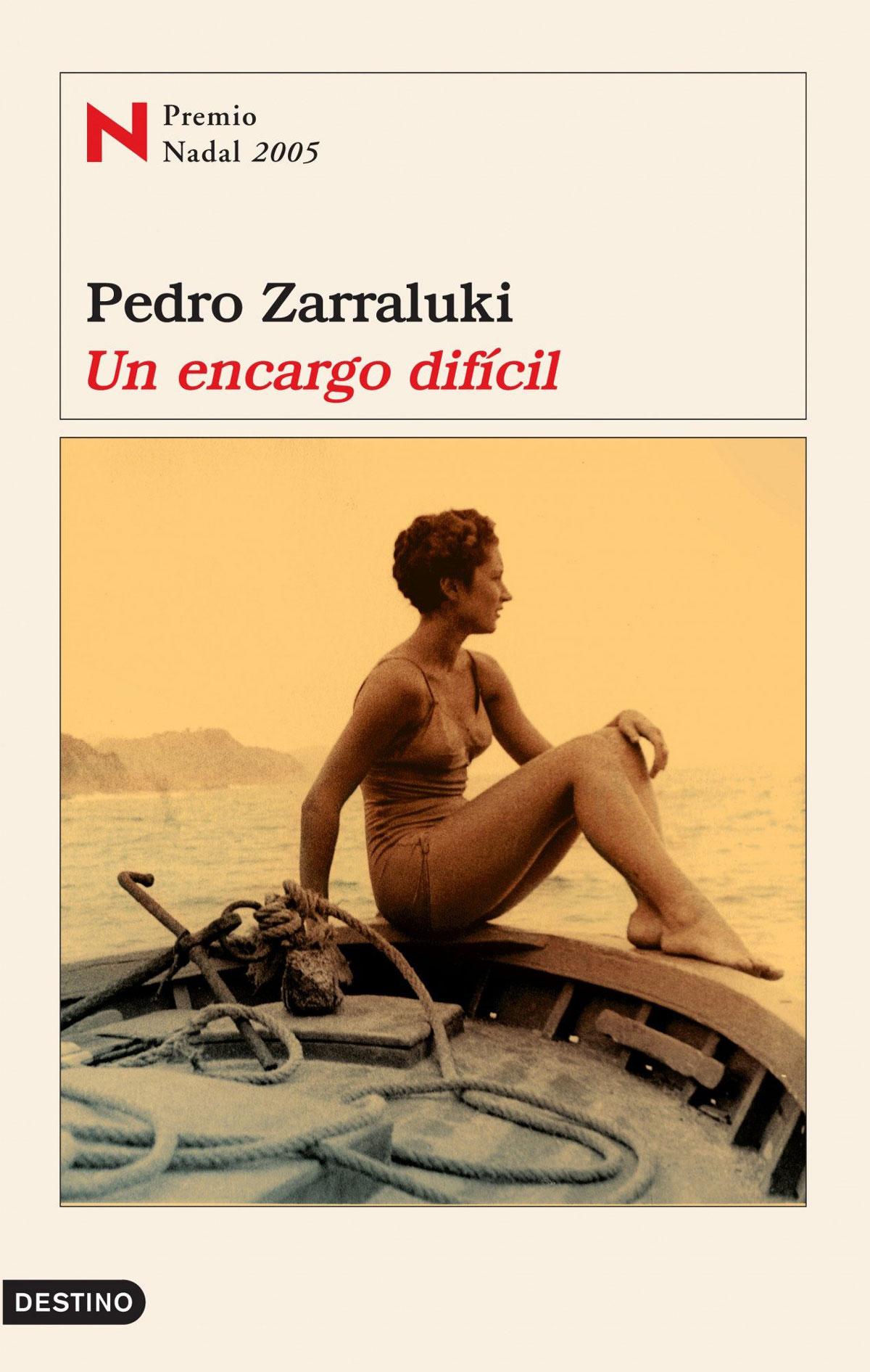 Portada de la novela Un encargo difícil, de Pedro Zarraluki