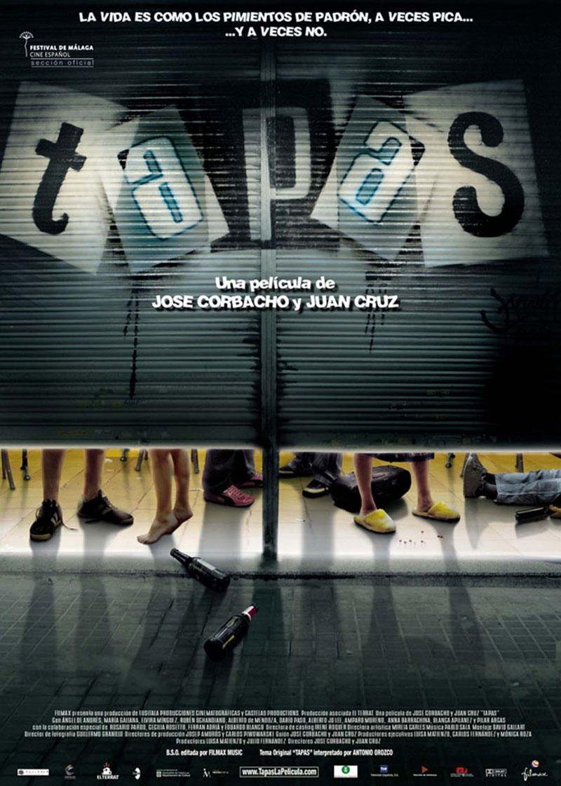 Cartel de la película Tapas, de José Corbacho