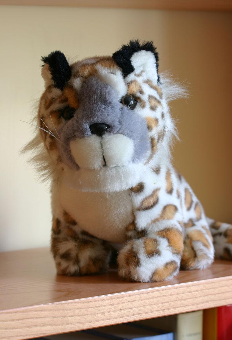 Leopardo de las nieves de peluche