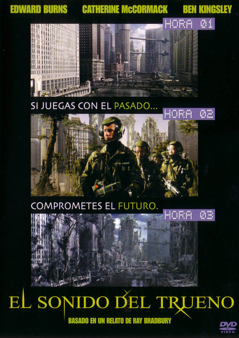Carátula de la edición en DVD de la película El sonido del trueno, de Peter Hyams