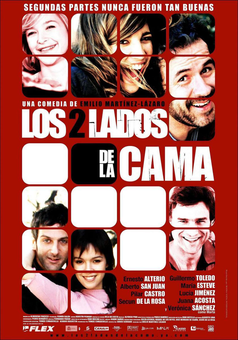 Cartel de la película Los dos lados de la cama, de Emilio Martínez Lázaro