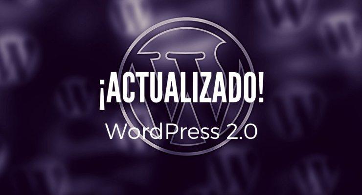Actualización a WordPress 2.0