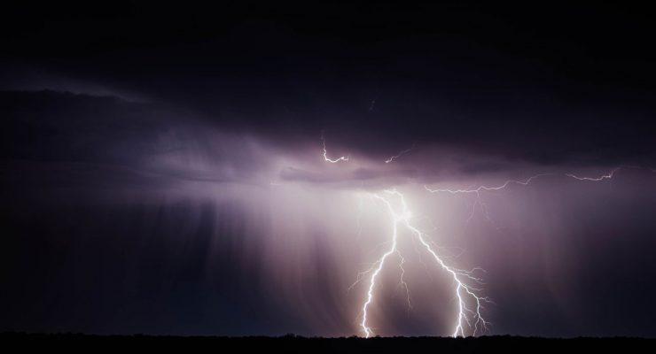 Relámpago en una tormenta