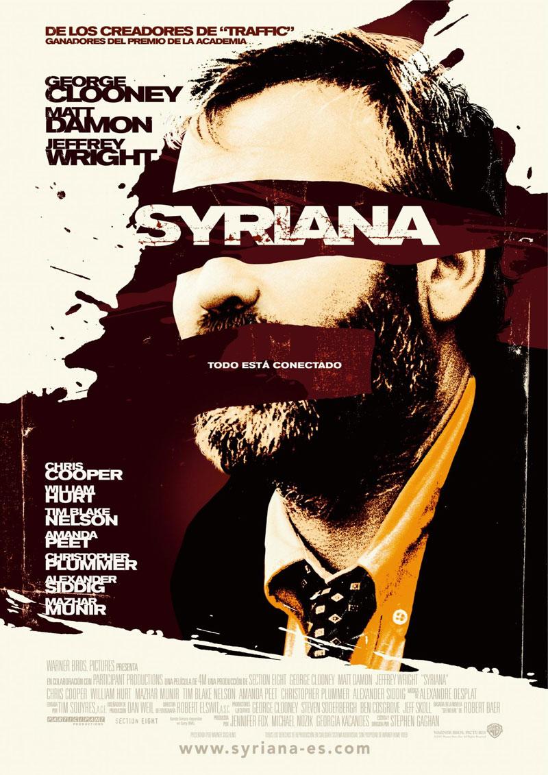 Cartel de la película Syriana, de Stephen Gaghan