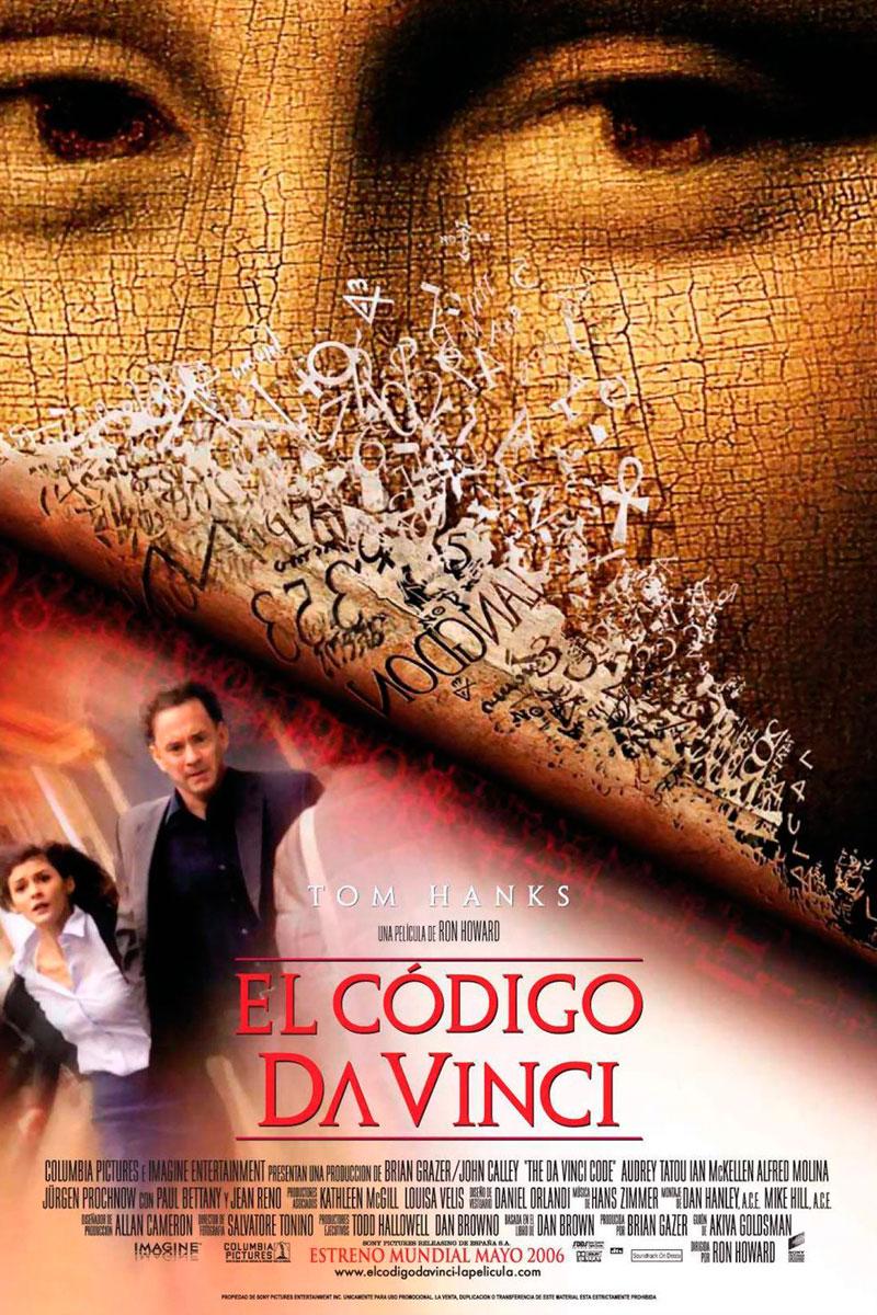 Cartel de la película El código Da Vinci, de Ron Howard