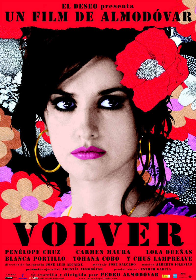 Cartel de la película Volver, de Pedro Almodóvar