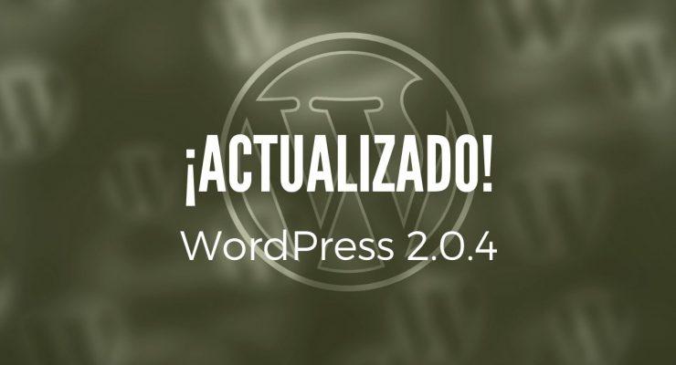 Actualización de WordPress a la versión 2.0.4