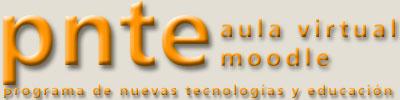 Logotipo del aula virtual del PNTE con Moodle