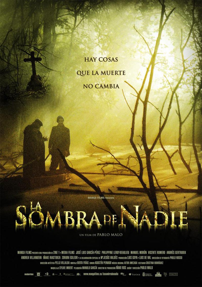 Cartel de la película La sombra de nadie, de Pablo Malo