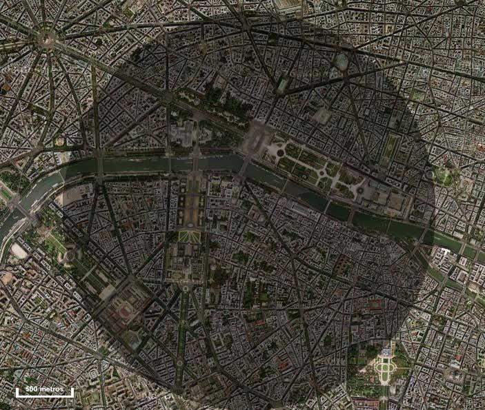 El Cráter París, según el capítulo 36 de la novela Olympo, de Dan Simmons