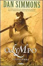 Portada del primer tomo de la novela Olympo, de Dan Simmons