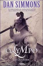 Portada del segundo tomo de la novela Olympo, de Dan Simmons