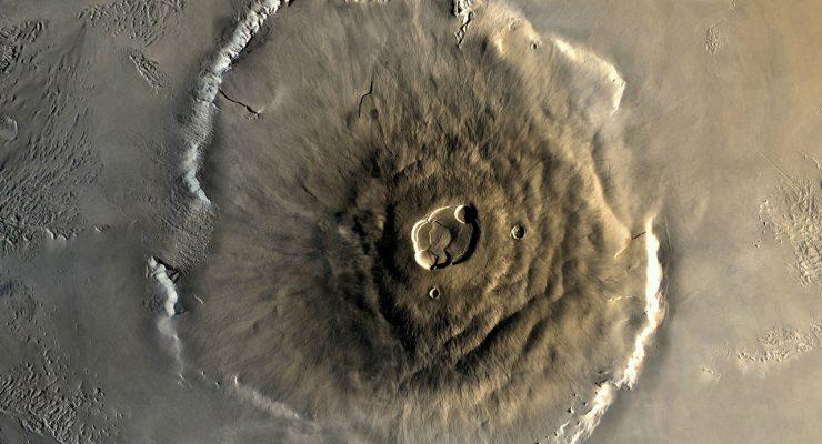 Cumbre del Monte Olimpo de Marte, visto desde el espacio