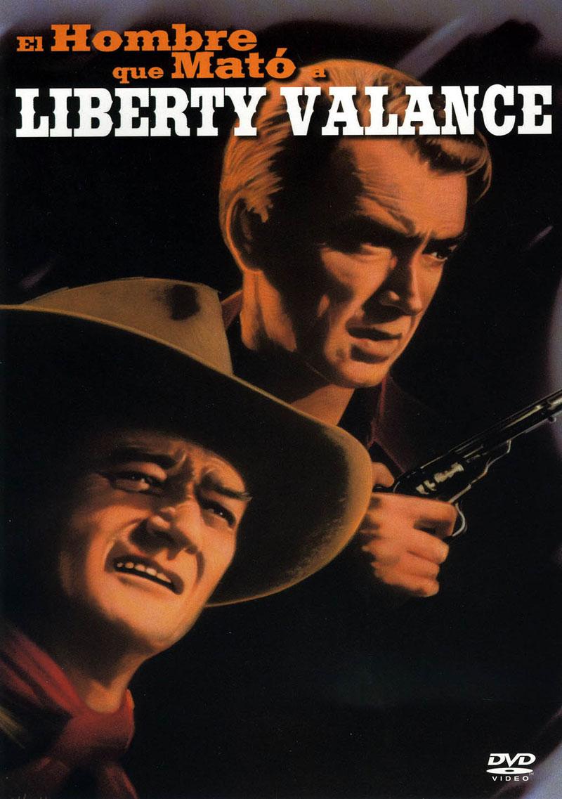 Carátula de la edición en DVD de El hombre que mató a Liberty Valance, de John Ford