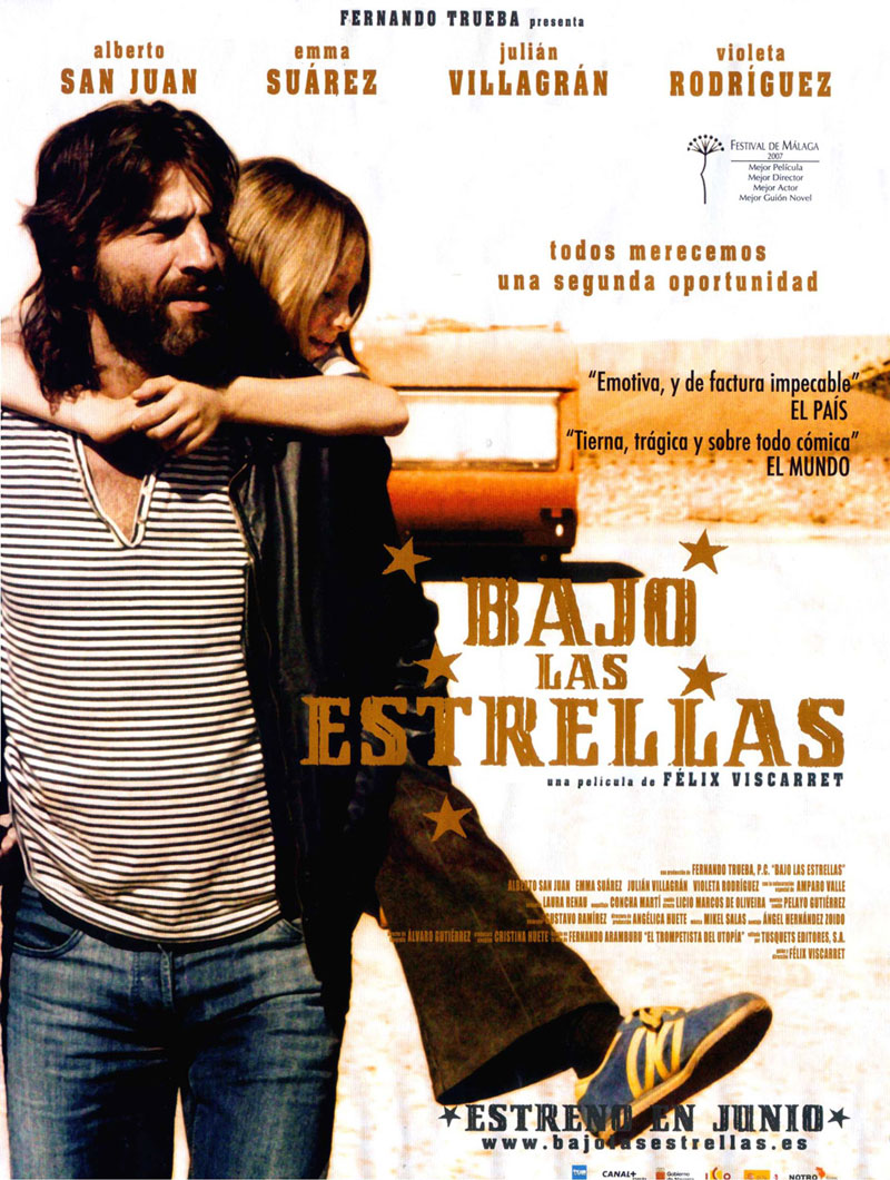 Cartel de la película Bajo las estrellas, de Félix Viscarret