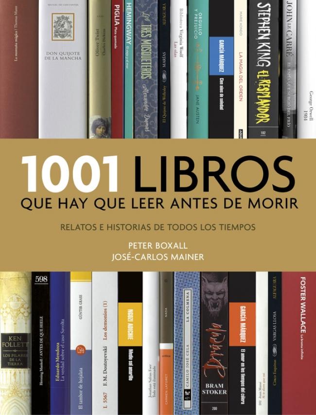 Portada de 1001 libros que hay que leer antes de morir, de Peter Boxall