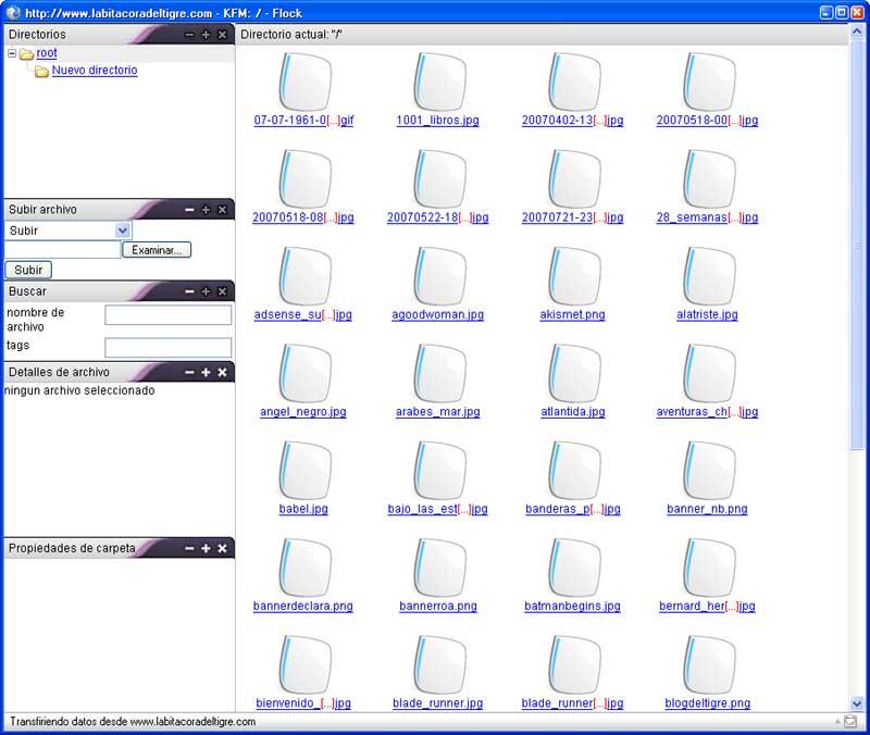 Figura 6 - Gestión de ficheros mediante KFM