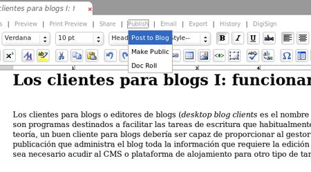 Figura 2: publicación en un blog