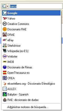 Figura 7 - Adición de diversos recursos de búsqueda: diccionario de rimas, tesauro, corpus lingüístico, etc.