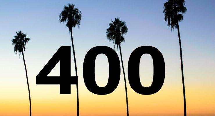 Cuatro palmeras y cuatrocientas entradas