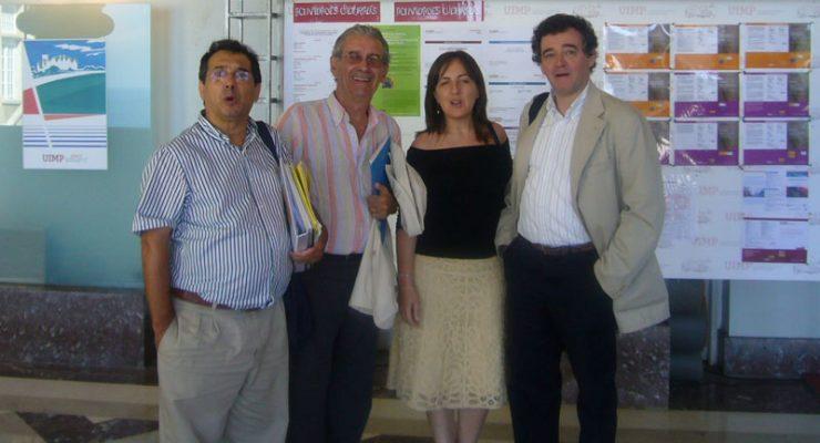 Felipe Zayas, Luis González Nieto, Tíscar Lara y Eduardo Larequi en el Palacio de la Magdalena