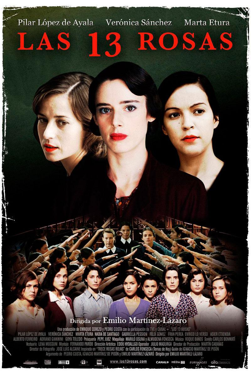 Cartel de la película Las 13 rosas, de Emilio Martínez-Lázaro