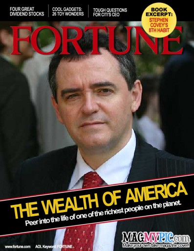 Eduardo Larequi en la portada de la revista Fortune