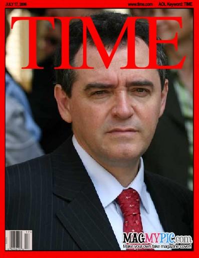 Eduardo Larequi en la portada de la revista Time