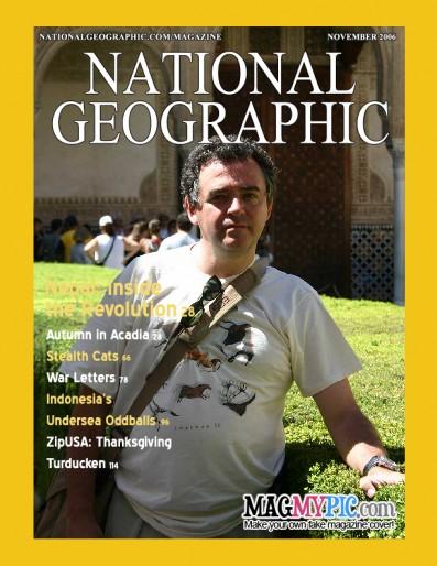 Eduardo Larequi en la portada de la revista National Geographic