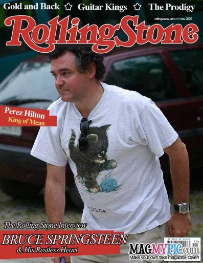 Eduardo Larequi en la portada de la revista Rolling Stone