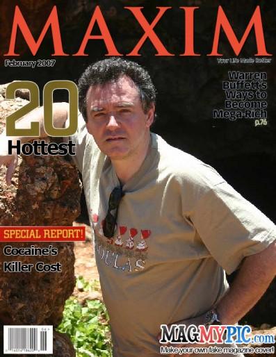 Eduardo Larequi en la portada de la revista Maxim