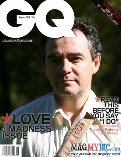 Eduardo Larequi en la portada de la revista GQ