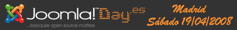 Banner del evento Joomla!Day España 2008