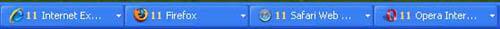 Figura 2 - Instancias de navegadores en la barra de tareas