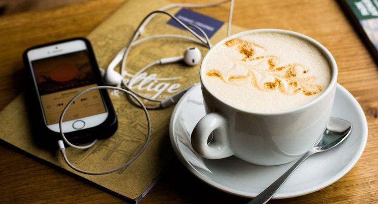 iPod y café