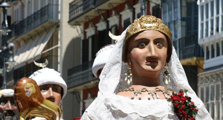 La reina europea, de la Comparsa de gigantes y cabezudos de Pamplona