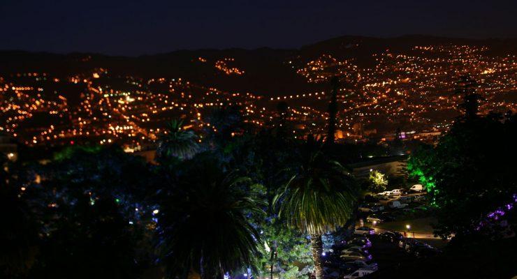 Vista de Funchal, capital de Madeira, desde la habitación del hotel