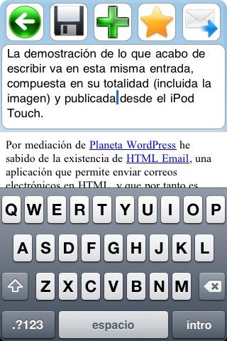 Edición de entradas en HTML Email