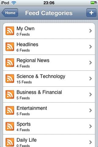 Fuentes RSS de categorías