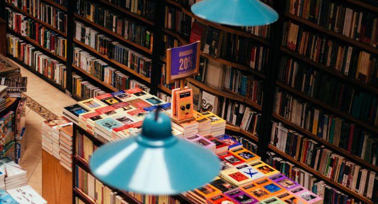 Libros en una librería