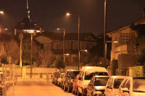Pamplona nocturna, calle Gorriti