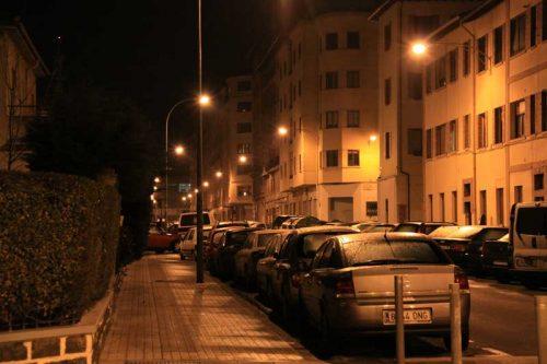 Pamplona nocturna, calle Aralar, 1