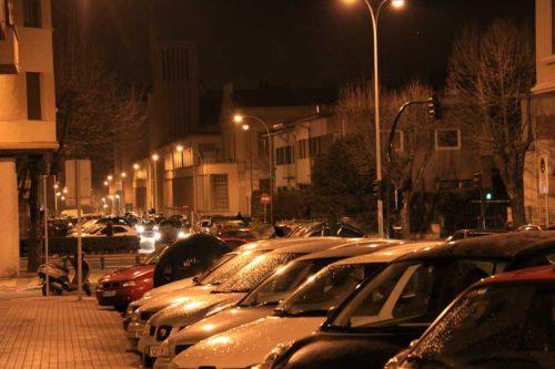 Pamplona nocturna, calle Aralar, 2