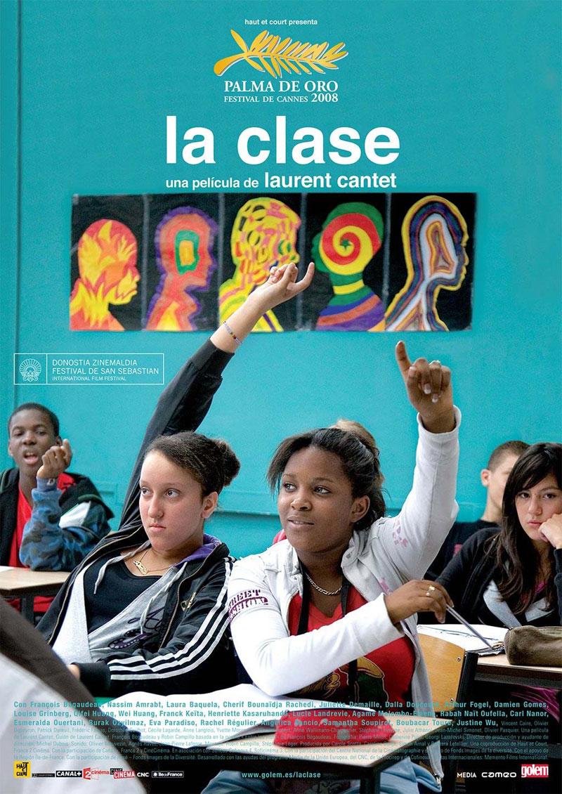 Cartel de la película La clase, de Laurent Cantet