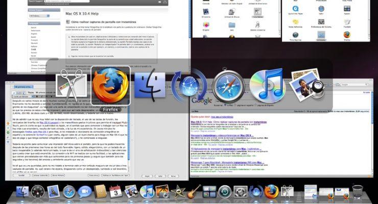 Figura 1 - Ventanas en el escritorio de un MacBook