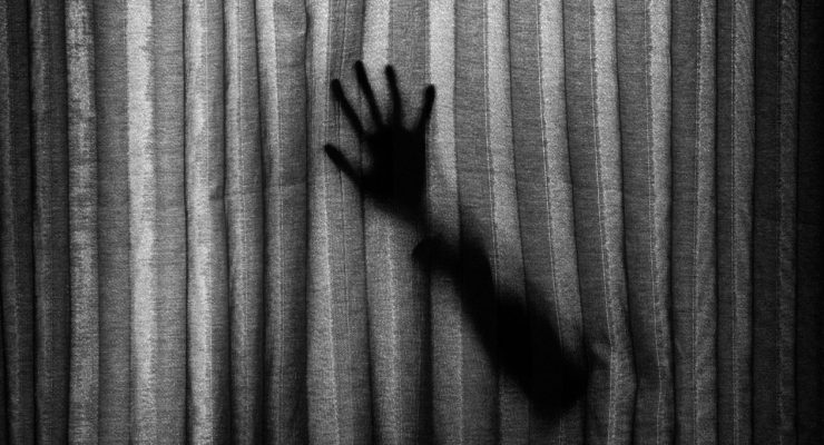 Escena de película de miedo