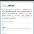 Página estática (formulario de contacto)